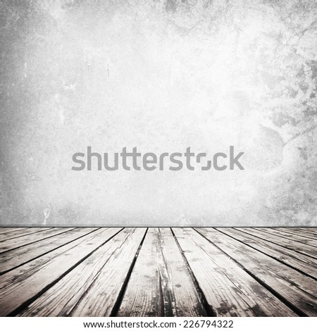 White room or space with wooden floor.  - stock photo