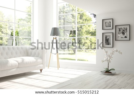 Scandinavian Interior Design 3D Illustration