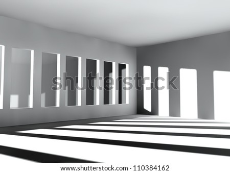 white room with sun light coming through the windows