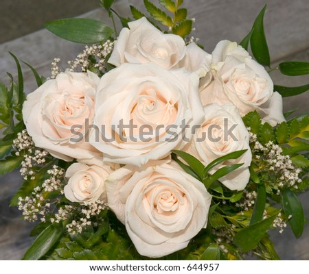 White roses. - stock photo