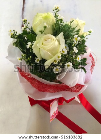 white roses flower bouquets gypso gypsy stock photo royalty free