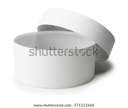 white round box isolated on white background.