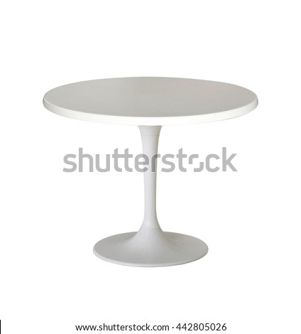 white round table isolated on white