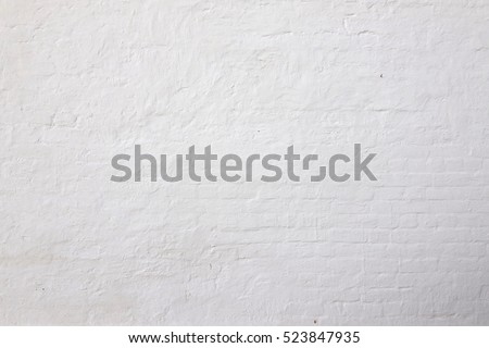 White Rustic Brick Texture Retro Whitewashed Old Wall Surface Vintage Grungy Shabby Uneven