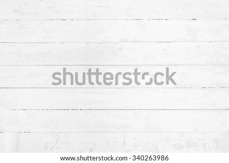 White rustic wood wall texture background - stock photo
