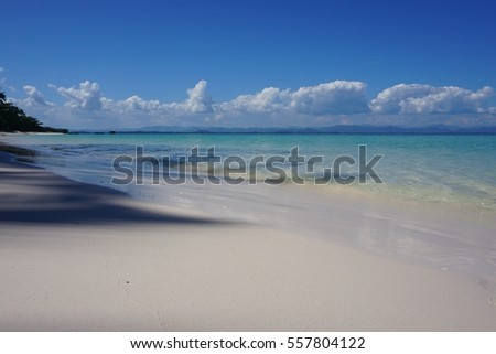White sand and blue sea