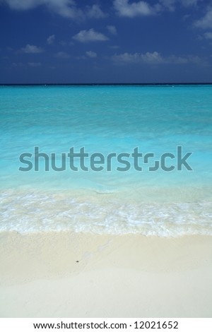 White sand beach and clear water