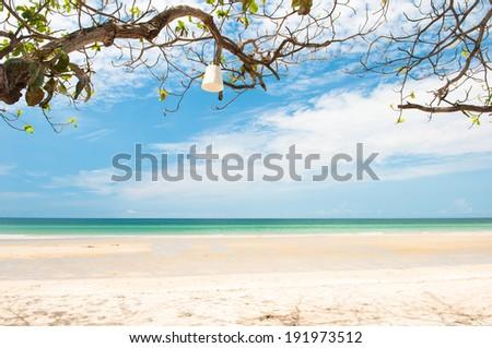 White sand beach at Koh Chang Island,Thailand - stock photo