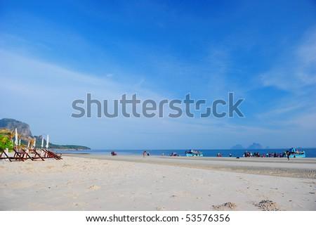 white sand beach, Trang , Thailand - stock photo