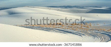 White sand national monument, New Mexico - stock photo