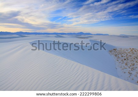 White Sands National Monument New Mexico. - stock photo