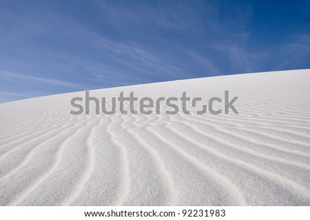 White Sands National Monument, New Mexico - stock photo