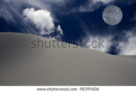 WHITE SANDS NEW MEXICO USA DESERT - stock photo