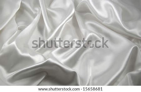 white satin - stock photo