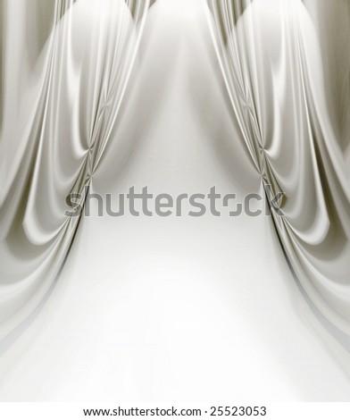 White Satin Drapes Stock Illustration 25523053