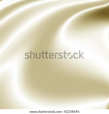 White satin fabric - stock photo