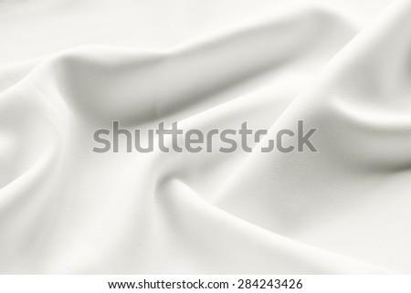 white satin fabric background - stock photo