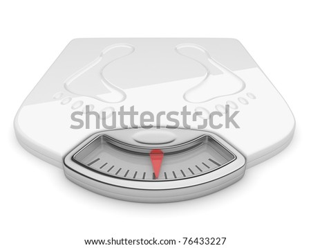 White scale on isolated background. 3d illustration - stock photo