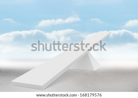 White scales in front of clouds