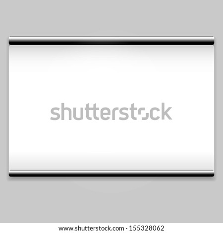 White screen projector clean background. See also vector version