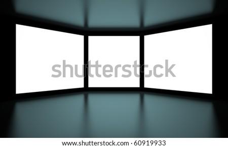 White Screens - stock photo