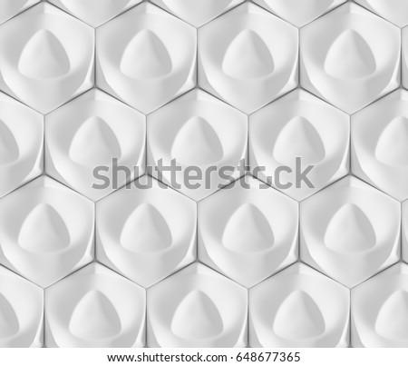 White Seamless Geometric Texture Origami Paper Stock Illustration