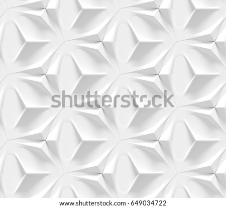 Abstract 3d Paper Background Place Inscription Stock Vector ...