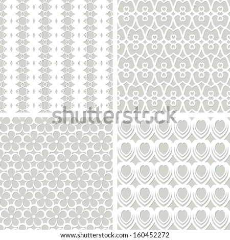 white seamless lacy patterns (raster version)