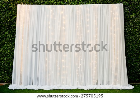 White See Through Fabric Curtain Decorate Stock Photo (Royalty Free)  275705195   Shutterstock
