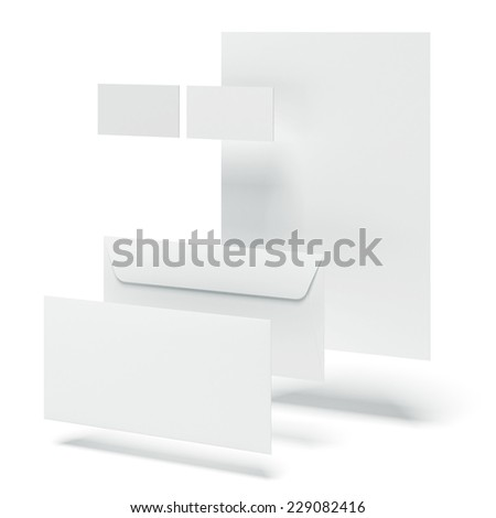 White set of corporate identity templates