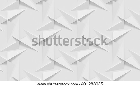 White Shaded Abstract Geometric Pattern Origami Stock Illustration