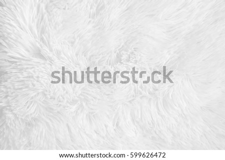 Beautiful White Shaggy Blanket Texture Background Fluffy Stock Photo (Safe  SD22