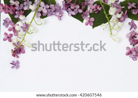 White sheet decorated with flowers.