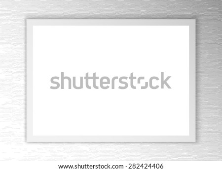 White sheet of paper. Realistic background blank - stock photo