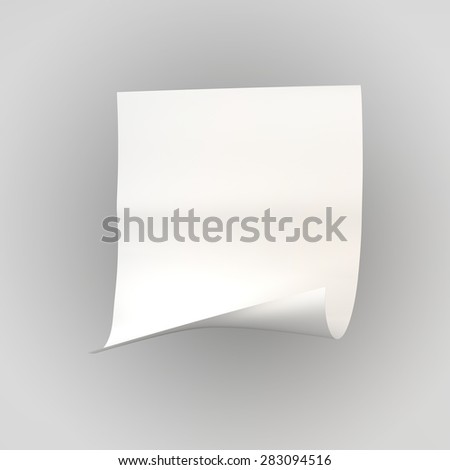 white sheet of paper roll, with space for text, greetings, background, texture - stock photo