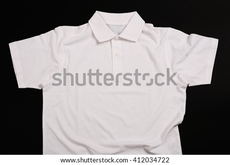 White shirt on a black background