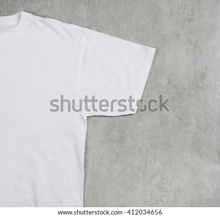 White shirt on the table - stock photo