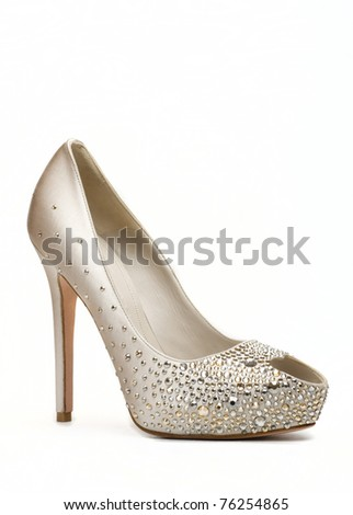 White shoe  isolated on white