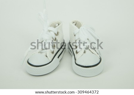 white shoes isolated on white background