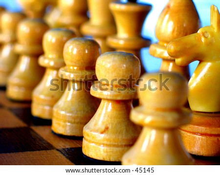 White side in a Chess Game - stock photo