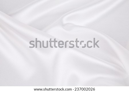 White silk texture close up. Whole background. - stock photo