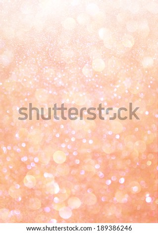 white silver and orange abstract bokeh lights. defocused background  - stock photo