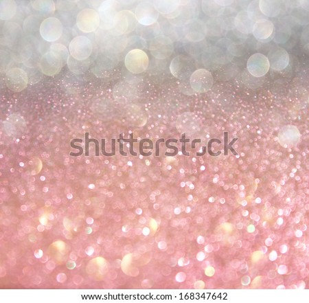 white silver and pink abstract  bokeh lights. defocused background  - stock photo