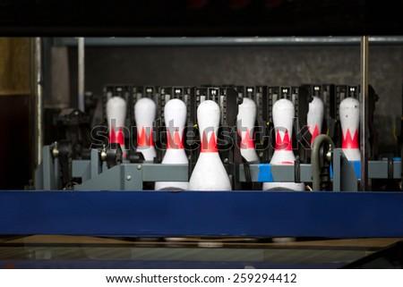 white skittles on track - stock photo