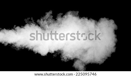 White smoke on black background - stock photo