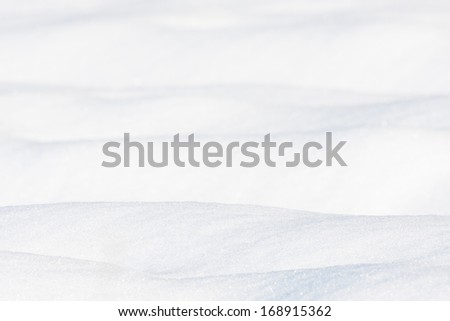 White snow background - stock photo