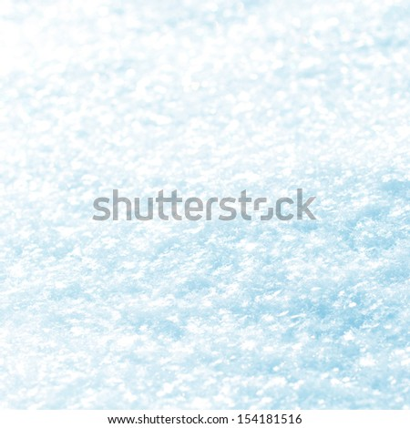 White Snow with snowflakes, winter background, toned blue - stock photo
