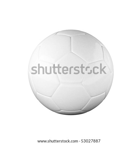 White soccer ball isolated