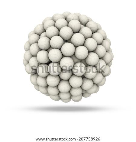 White soccer ball sphere - stock photo