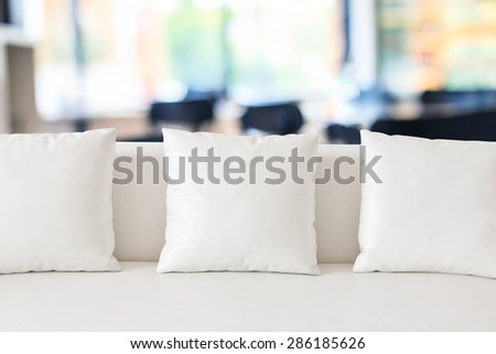 White sofa - stock photo